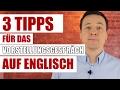3 Tipps für das Vorstellungsgespräch auf Englisch/ 3 Tips for your job interview