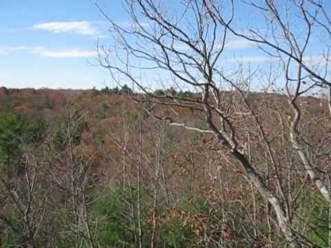 View of the Blue Hills Reservation from the first cliff on the Skyline Trail in Milton, MA