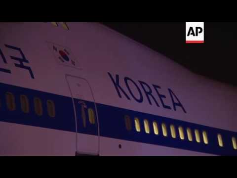 Indian, South Korean and UN leaders arrive