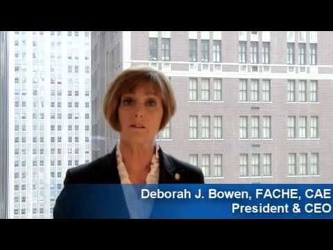 A Welcome Message From ACHE's Deborah J. Bowen, FACHE, CAE