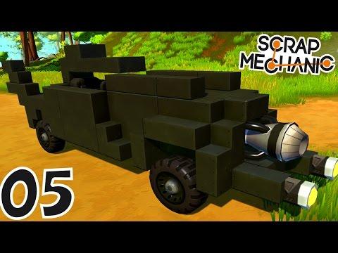 CONSTRUCTION DE LA BATMOBILE ! | Scrap Mechanic ! #Ep5