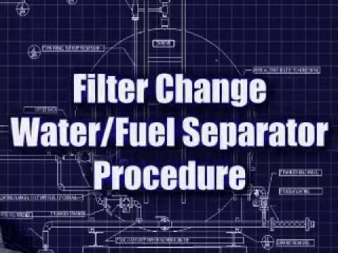 Filter Change on Water/Fuel Seperator