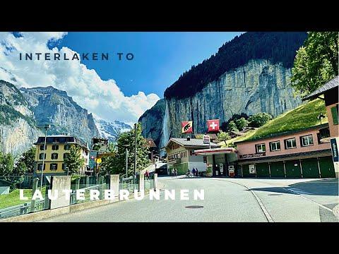 Interlaken to Lauterbrunnen 4K Switzerland 🇨🇭 2021 Summer
