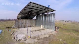 видео Строительство гаража из профнастила – как построить гараж своими руками