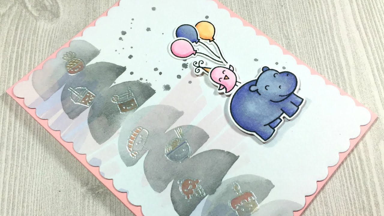Hippo birdie birthday card lawn fawn mama elephant youtube hippo birdie birthday card lawn fawn mama elephant bookmarktalkfo Image collections