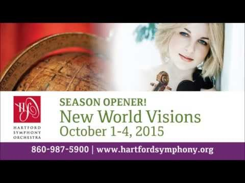 Hartford Symphony presents New World Visions with guest violinist Caroline Goulding