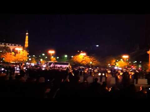 La Marseillaise at Arc de Triomphe 12 november