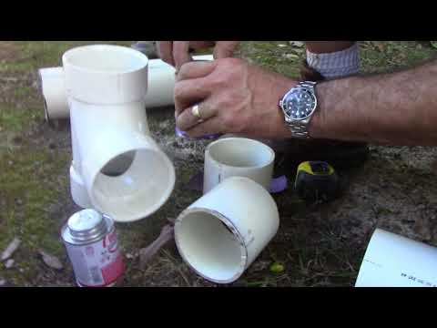 Installing  A Sewer Line Clean Out Part 2
