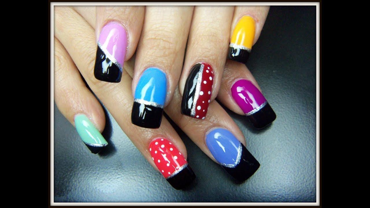 U as pintadas con esmaltes de colores f ciles de hacer for Unas sencillas y faciles