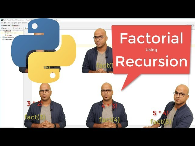 #41 Python Tutorial for Beginners | Factorial using Recursion
