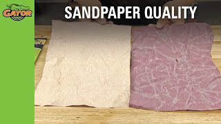 How to Test Sandpaper Quality; Crumple Test