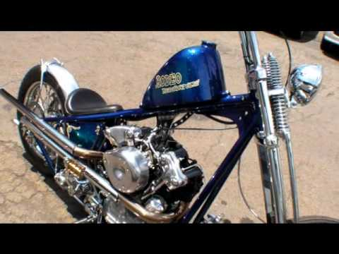 RODEO SS KN  Knuckle Frisco Chopper kick starting   YouTube
