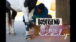 Boyfriend gets my horse ready 💁🏻♂️ // A&G HorseDiary