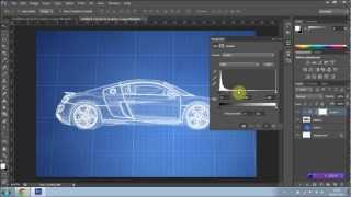 How To Create A Blueprint Effect In Photoshop Cs6