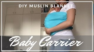 DIY Baby Carrier | Muslin Blanket | Taglish