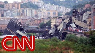 Bridge collapses in Italy after violent storm