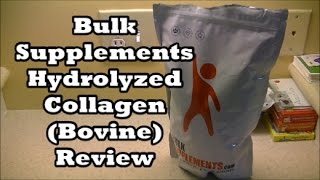 bulksupplements.com hydrolyzed collagen review