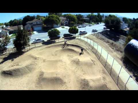 DJI F550 Hexacopter Flight over Calabazas BMX Park in Cupertino, California
