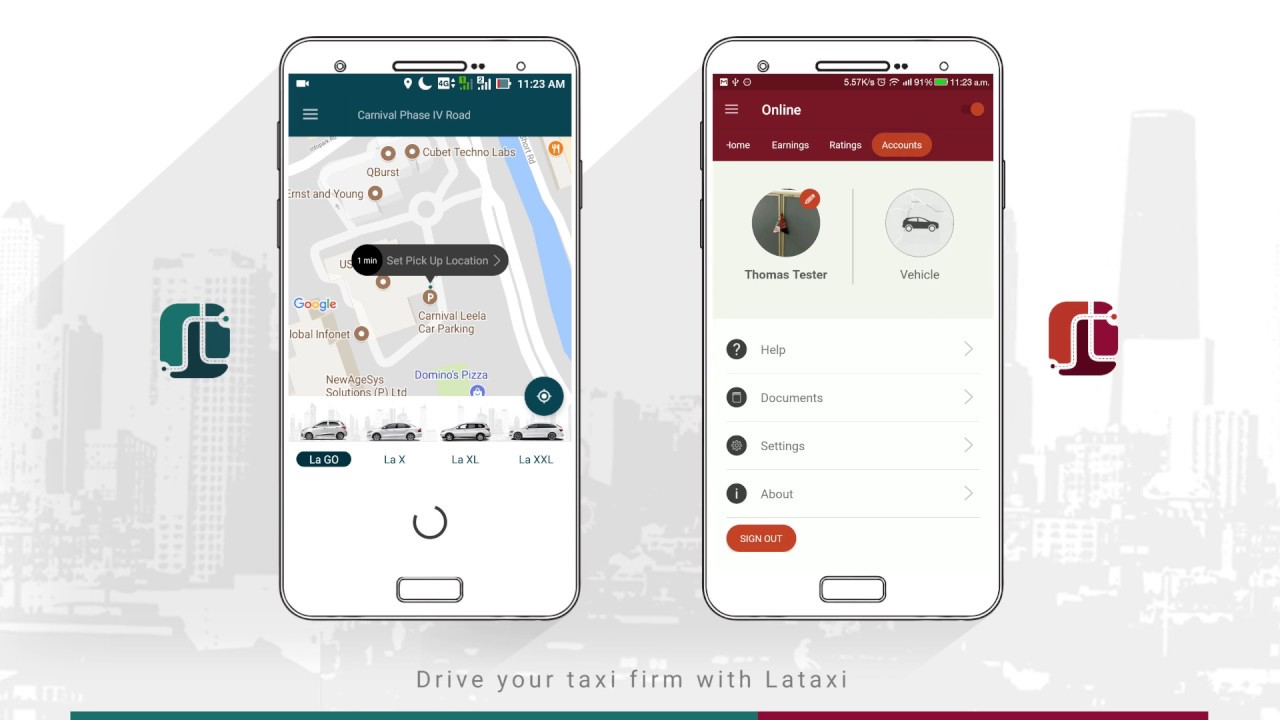 Lataxi - On Demand Taxi Booking Application