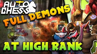 Full Demon Build (+ DEMON GOD Rogue Guard) in King Lobby | Meme Dream Team | Auto Chess Mobile