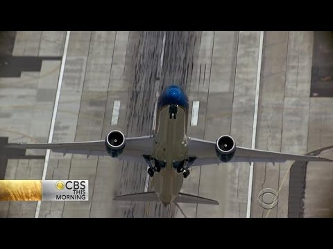 Boeing pilots practice almost-vertical takeoff
