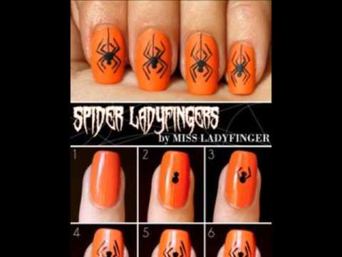 Halloween Nails Art Desigs Step By Step Modele De Unghii Simple De