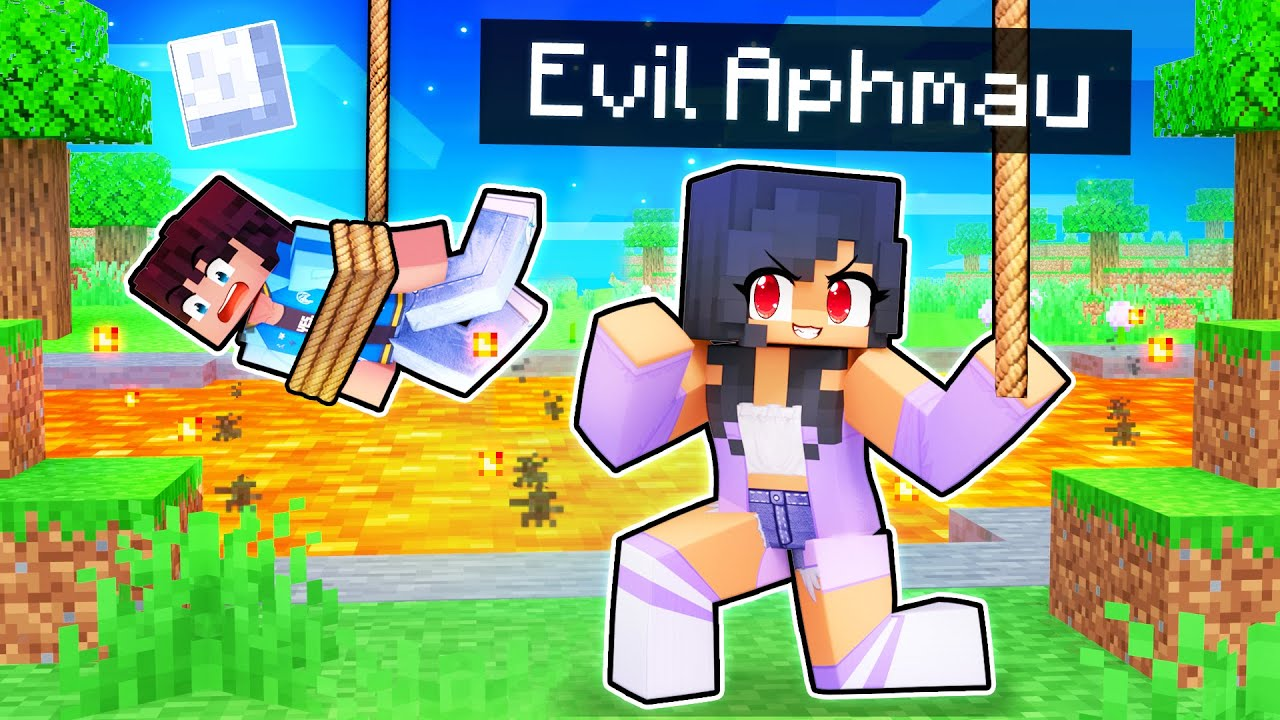 Turning Into EVIL APHMAU In Minecraft!