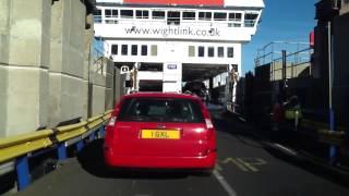 Going aboard onto (Mv St Faith) Wightlink Ferry