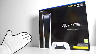 PS5 Digital Edition Unboxing - Sony PlayStation 5 Next Gen Console + Ultra Rare Press Kit