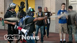 BLM Protesters Chased Far-Right Activists Out of Downtown Portland In a Bear Mace Fight