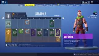 Fortnite Season 7 Battle Pass *SHOWCASE* (Skins/Pets/Emotes/Weapon Skins)