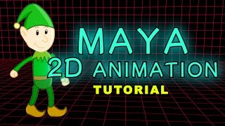 Maya Tutorial - How To Make A 2D Animation Or Cartoon