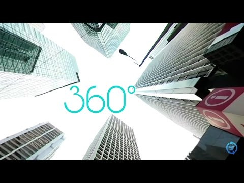 360° VR 4K Central Business District Downtown Skyscrapers