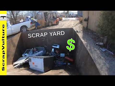 How To Make Money SCRAPPING METAL - Scrap Yard Trips