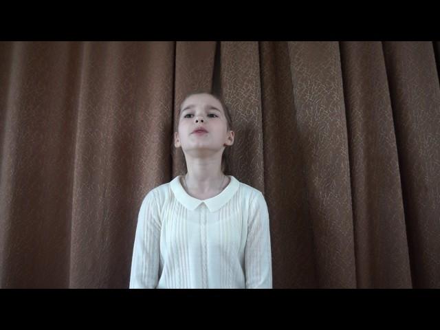 Изображение предпросмотра прочтения – КсенияМолодцова читает произведение «Папе на фронт.» Е.А.Благининой