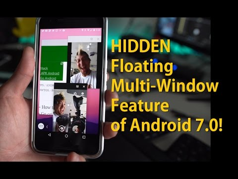 Android 7.0 Nougat HIDDEN FEATURE! - Floating Multi-Window [Taskbar]