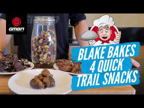 How To Make 4 Simple and Quick Trail Snacks   Blake Bakes