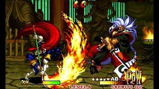 Samurai Shodown III: Kyoshiro playthrough / lvl-4 【60fps】