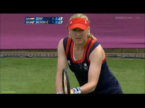 Elena Baltacha vs Agnes Szavay 2012 London Highlights