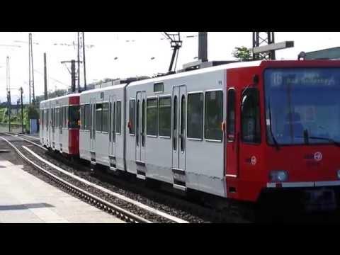 【Deutsche Transport】Kölner Verkehrsbetriebe  Stadtbahn Köln Linie 16 @ Bonn West (00517)
