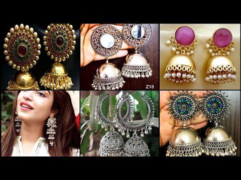 New gorgeous silver jewellery trendy jhumka designs