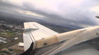 Takeoff from Portland: United Express Embraer EMB-120