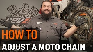 How To Adjust a Motorcycle Chain and Sprockets at RevZilla.com