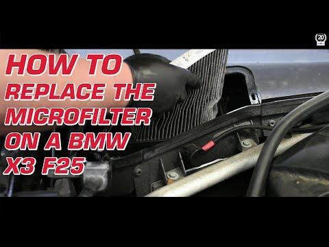DIY BMW X3 F25 microfilter replacement by Schmiedmann