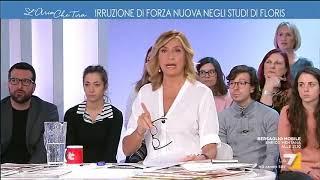 Irruzione di Forza Nuova negli studi di Floris, Myrta: 'Gesto di squadrismo fascista'