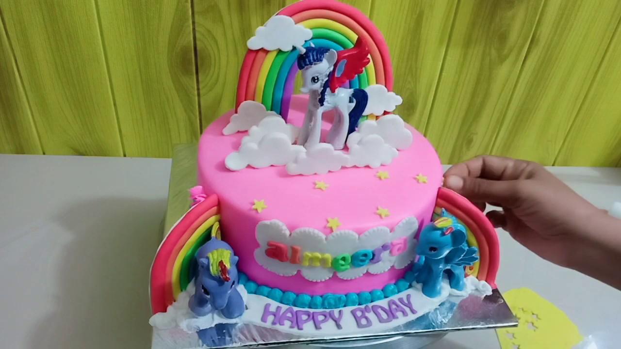 Kue Ultah Anak Kuda Poni Youtube