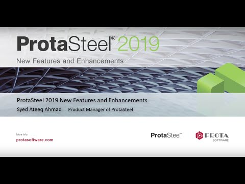 ProtaSteel 2019 – New Features and Enhancements