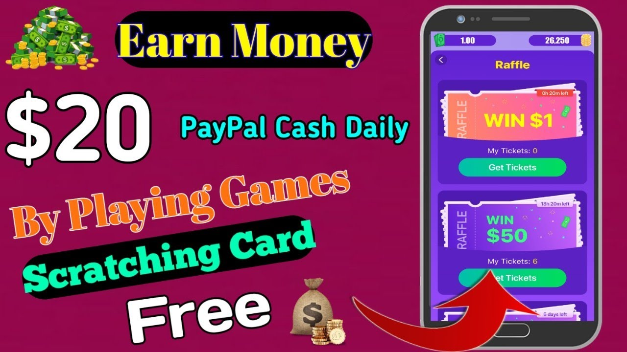 Earn 20 Every Day Paypal Cash Scratching Card And