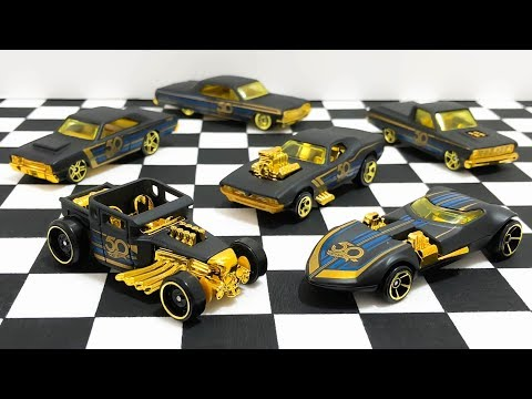 Hot Wheels Black And Gold 50th Anniversary Series Unboxing