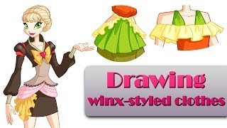 Drawing Winx clothes - speedpaint